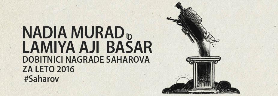 Nadia Murad in Lamija Aji Bašar, dobitnici nagrade Saharova za svobodo misli za leto 2016